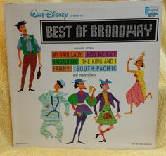 Walt Disneys Best of Broadway LP Disney Record DQ-1267 by KatsVintageTreasures on Etsy