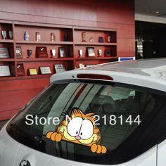 New hot sales popular cartoon Garfield car stickers fo car door and  full body  sticker free shipping US $3.98 - 24.76