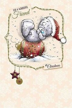 Me To You For A Wonderful Friend Christmas Card Tatty Teddy Bear New Gift