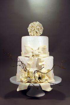 White/Ivory Wedding Cake