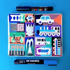 Marc doesn't do pencil sketches, just posca paint markers all the way! Check out his unique drawing process for creating amazing sketchbook compositions!
