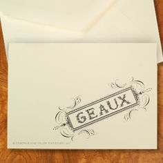 Geaux Tigers notecards.