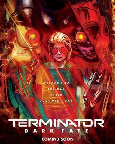 Y135 Art Poster Terminator Movie 2019 Dark Fate Hot Print