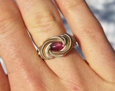 Ruby and Spinel Wire Wrapped Ring Reserved for Jack