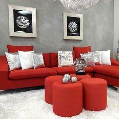 34 Choosing Good Modern Red Sofa Design Ideas for Living Room - walmartbytes Red Room Decor, Red Living Room Decor, Living Room Designs, Red Couch Rooms, Red Couch Living Room, Red Couches, Sofa Design, Decoration, Modern Sofa