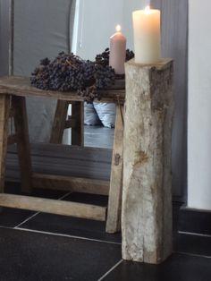 rustic log holder