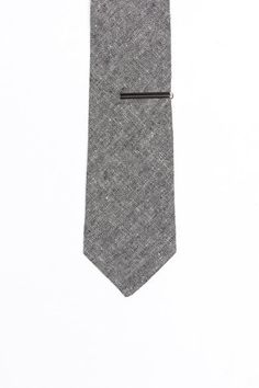 Burma Bibas Solid Effects Tie with Tie Bar