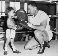 Joe Louis and his son