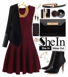 """""""Shein"""" by oshint ❤ liked on Polyvore featuring Ben-Amun, Balenciaga, Chanel, Diane Von Furstenberg, Lana, Valentino, DUDU, Irene Neuwirth, Sheinside and shein"""