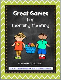 Morning Meeting Games *A fun way to start the day or simply some good ol' community building ideas! Morning Meeting Kindergarten, Morning Meeting Activities, Kindergarten Classroom, Morning Meetings, Morning Work, Class Meetings, Morning Meeting Greetings, Morning Meeting First Grade, Morning Meeting Songs