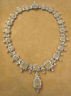 Yellow and White Diamond Necklace #DiamondNecklaces