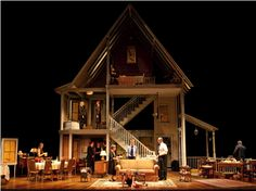 """An interesting blog about dollhouse miniatures. Judy Mizikar: """"  Todd Rosenthal's inspiration for this remarkable stage design, for the theater production of August: Osage County, was a dollhouse! If you think about it (if you are familiar with the story), a dollhouse setting is ideal for the disjointed, often surreal story of the dysfunctional family"""" JUST MINIATURE SCALE"""
