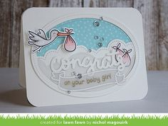 Lawn Fawn Intro: Thinking About You Border and Scripty Congrats - the Lawn Fawn blog