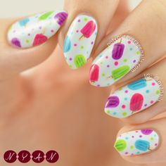 Popsicle Party nail art by Becca B