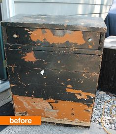 Before & After: Rescuing a Dumpster Dive Dresser Art is Beauty featured on @apartment therapy