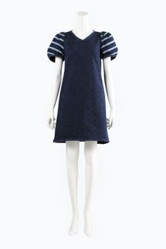 BORDERS at BALCONY #DENIM DRESS B14SP1-3-7 #2014SS #bordersatbalcony #border #dress