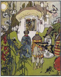 Title:きのこ戦争 War of mushrooms Война грибов Artist:ゲオルギー・ナールブト Georgy Narbut Георгий Нарбут Date:1909