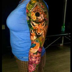 Best Arm Sleeve Tattoos | Holy Water Arm Sleeve Tattoos, Awards, Water, Gripe Water, Aqua