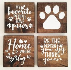 Each sign measures approximately Set of 4 MINI dog signs. These funny dog signs for home are sure to make you smile and remind you how much you love your dog ♡ A great Mothers Day or Birthday gift idea for dog lovers, dog mom, dog groomer or as Diy Signs, Home Signs, Funny Dog Signs, Dog Christmas Gifts, Christmas Decor, Mini Dogs, Dog Rooms, Dog Crafts, Gifts For Pet Lovers
