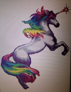 Rainbow Unicorn Cross Stitch Chart by VerityVelcro on Etsy, £4.50