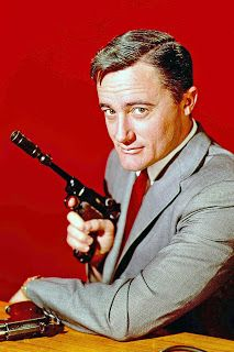 "Robert Vaughn as Napoleon Solo in ""The Man From U.N.C.L.E."""