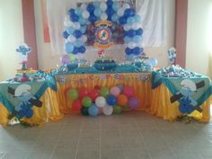 Decoracion Pitufos 2nd Birthday, Smurfs, Party, Centerpieces, Photos, Mesas, Receptions, Parties, 2nd Anniversary