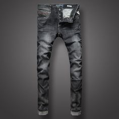 (61.98$)  Know more - http://aiazc.worlditems.win/all/product.php?id=32804367777 - Black Color Classic Denim Men Jeans High Quality Slim Fit Buttons Stripe Jeans Men Pants Retro Design Street Fashion Biker Jeans