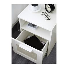BRIMNES Nightstand, white white 15 3/8x16 1/8