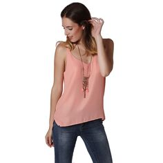 Coral Shimmer Tank Top – Fashion Gal Freedom
