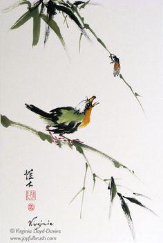 Bamboo, Grapes, Lotus - Virginia Lloyd-Davies - Joyful Brush®