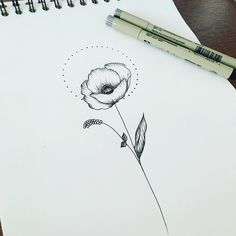 Resultado de imagen para minimalist poppies tattoo