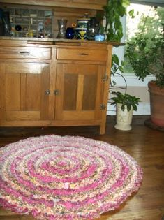 Different than the average rag rug. This has a tutorial.
