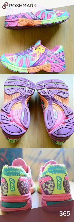 Women's Size 6 Gel Noosa Tri 9 Asics Athletic Shoe Used, Women's Gel Noosa Tri 9 Asics Athletic Sneakers  Color: Multicolor / Pink / Purple  Size: 6 US 39 EUR 24.5 CM Asics Shoes Athletic Shoes