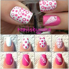 Pink dots & feather