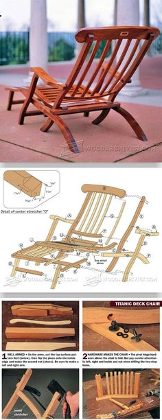 Titanic Deck Chair Plans - Outdoor Furniture Plans and Projects | WoodArchivist.com
