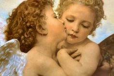 """Is not a kiss the very autograph of love?""~ Henry Finck Art by William Adolphe Bouguereau ~The First Kiss~"