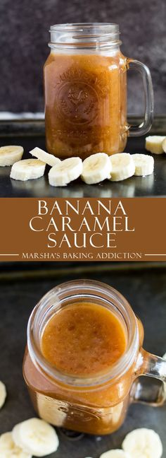 Banana Caramel Sauce - This deliciously sweet caramel sauce is made with just 5 simple ingredients, and is loaded with banana flavour! Caramel Recipes, Banana Recipes, Banana Sauce Recipe, Dessert Sauces, Dessert Recipes, Sauce Recipes, Cooking Recipes, Salsa Dulce, Salted Caramel Sauce