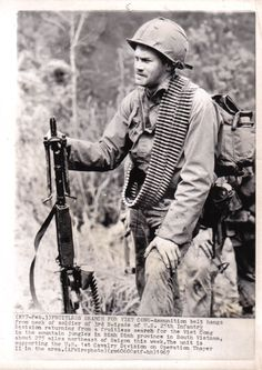 M60 Gunner, 1st Air Cav Div, Operation Thayer II, 1967 ~ Vietnam War