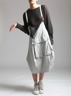 RESIN TENCEL LYCRA OVERALLS WITH LEATHER DETAILS