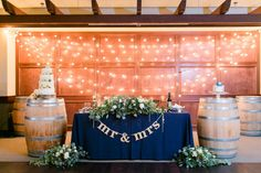 Taylor + David's Sweetheart Table at Wiens Family Cellars Winery  http://www.wienscellars.com/temecula-wedding/ Photo By Leah Marie Photography
