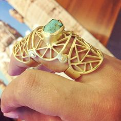 "zariinjewelry: "" TREND - Modular, adaptable jewelry that follow the flow of human ergonomics to make a statement of another level. #trend #modular #jewelry #ring #adaptable #zariin #design #jewelrydesign #turquoise #trend #wearableart #fashion..."