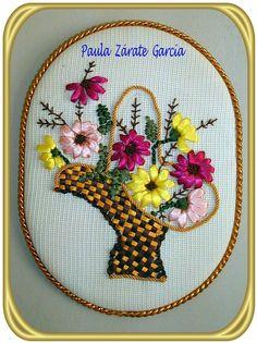 76 Mejores Imagenes De Bordado En Liston Ribbon Embroidery Ribbon