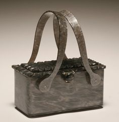 Vintage gray marbelized handbag by Rialto, New York;