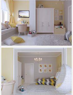 Gyerekszoba Bedroom Bed Design, Home Room Design, Kids Room Design, Bedroom Colors, Small Studio Apartment Design, Home Interior Design, Bedroom Decor, Luxury Bedroom Furniture, Home Decor Furniture