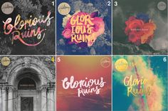 """THESE WERE CONCEPTS FOR HILLSONG LIVE's """"GLORIOUS RUINS"""" ALBUM COVER"""