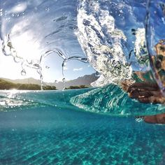 GoPro Featured Photographer: @tedfordmahiko  So stoked to be raised here in paradise where the weather is almost always good. When it's flat and zero waves, #handwaves are fun to try and they come out sick when you land um! Lol!  How I captured the shot: I took this photo in 30 shot burst in 1 second mode being it happens so fast I need the speed burst to be on one second. Try it and tag me! I also put my GoPro inside a knektusa dome set up to get this over/under capture. Aloha! #GoPro