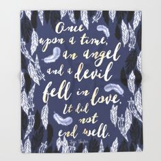 Daughter of Smoke and Bone quote design Throw Blanket