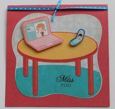 Cricut Imagine Best Friends Cartridge I miss you card