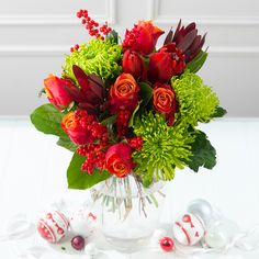 Put a smile on her face with a bunch of flowers #christmas #flowers