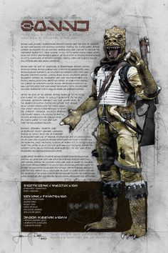 Bossk (Bounty Hunter Series) by JacobCharlesDietz.deviantart.com on @DeviantArt